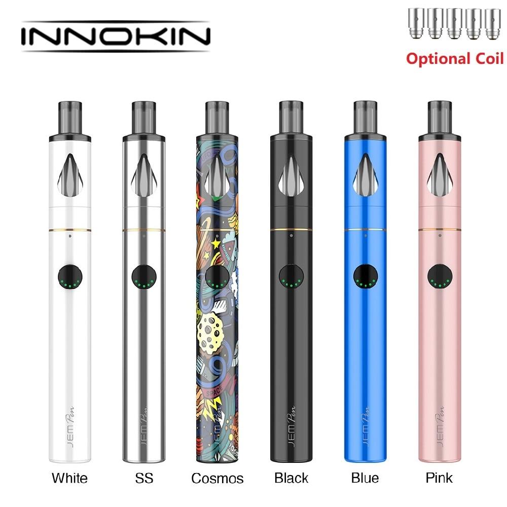 NEW Original Innokin JEM Kit 1000mAh Build In Battery Wi/ 2ml Tank& 1.6ohm & 2.0ohm Coils Slim AIO Vape Kit VS Endura T22 /Adept