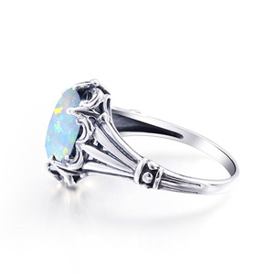 Image 3 - Szjinao Opal Rings 925 Sterling Silver Angel  Witcher Jewelry Accessories Stone Ring Cut Fire Luxury For Women Christmas Gifts