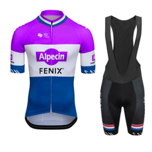 ALPECIN FENIX 2021 Men Cycling Clothing Team Jersey Set Summer Short Sleeve Bicycle Uniform Maillot Culotte