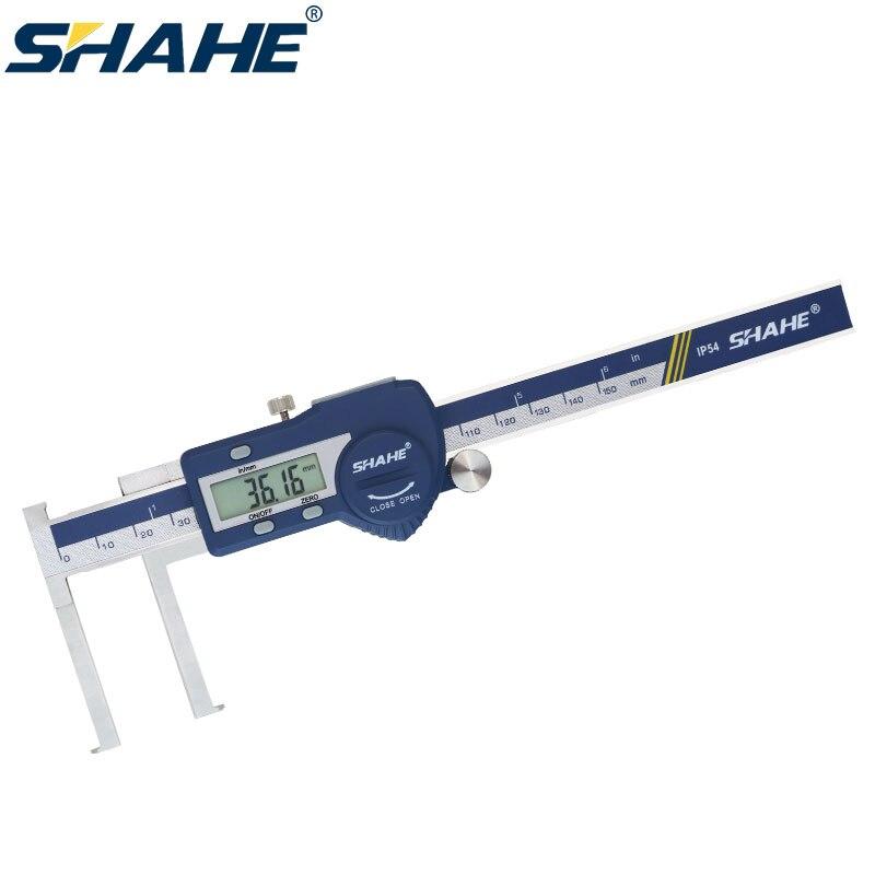 SHAHE 8-150 mm digital Inside Groove Caliper Stainless steel Vernier Calipers Gauge Paquimetro digital Measuring Tools