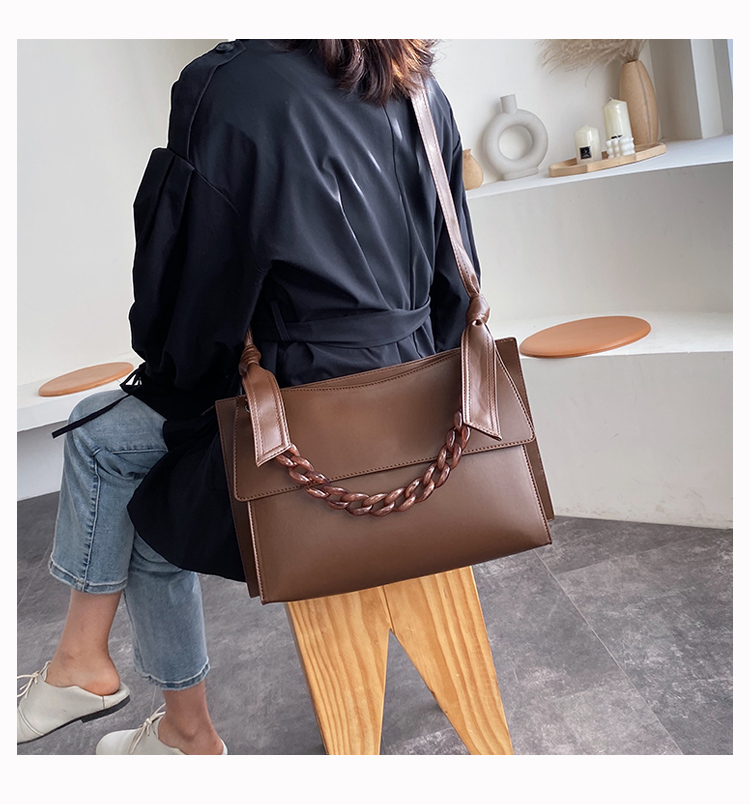 Nova moda panelled acrílico cadeias bolsas femininas