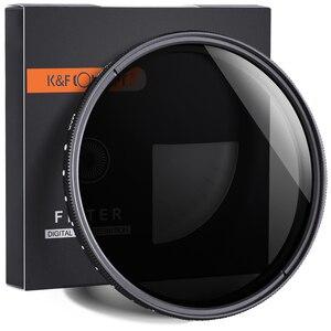 Image 1 - K & F CONCEPT réglable ND2 à ND400 ND filtre dobjectif 37MM 55MM 58MM 62MM 67MM 72MM 77MM 95MM mince Fader densité neutre Variable