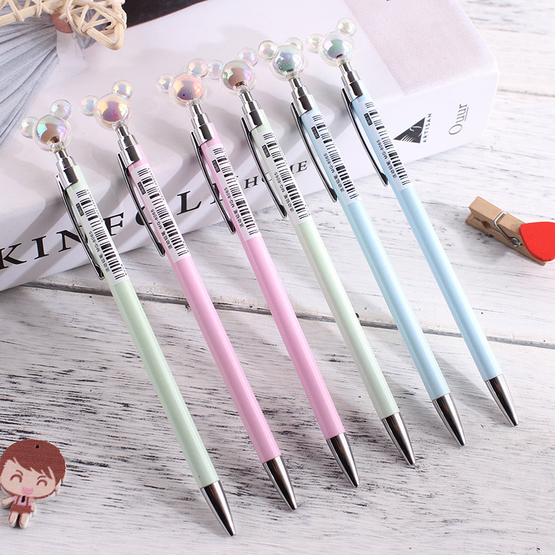 1 PCS Mickey Metal Mechanical Pencil Cute 0.7 Mm Automatic Drawing Pen School Writing Supplies Stationery Gift