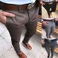 Мужские брюки  облегающие  хлопковые  со средней посадкой  большие размеры