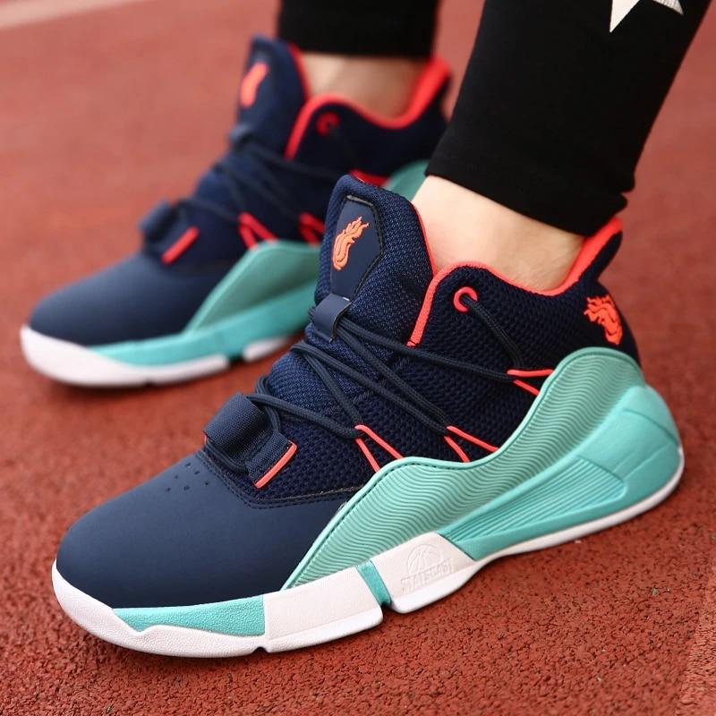 Boys Basketball Sneakers Jordan Jordan Kids Shoes New Fashion Teenagers Mesh Breathable Boots 33-42 Shock Absorption Tranning