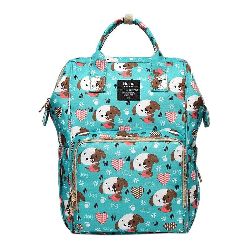 Heine Fashion Mummy Maternity Nursing Bag Large Capacity Travel Backpack Bag Portable Nappy Waterproof For Baby Stroller Cartoon