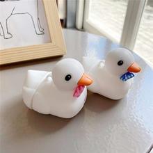 3d ins милый силиконовый чехол с рисунком утки для airpods 1