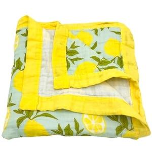 Image 4 - winter blanket lemon & rainforest 4 layer 100% cotton muslin baby blankets for newborn swaddle wrap bedding swaddling