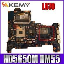 Akemy nalaa LA-6042P para toshiba l670 k000103790 computador portátil placa-mãe hd5650m hm55 ddr3