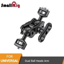 SmallRig Aluminum Alloy Quick Release Articulating Magic With Arm Dual Ball Heads for Atomos Shogun 7 Monitor Screen - 2448