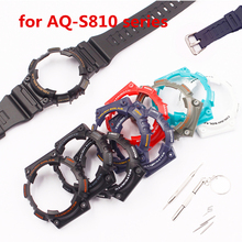 Watch Accessories For CASIO AQ-S810 AQ S800 Sports Waterproof Watch Case Strap Men's Women Strap hyundai s800