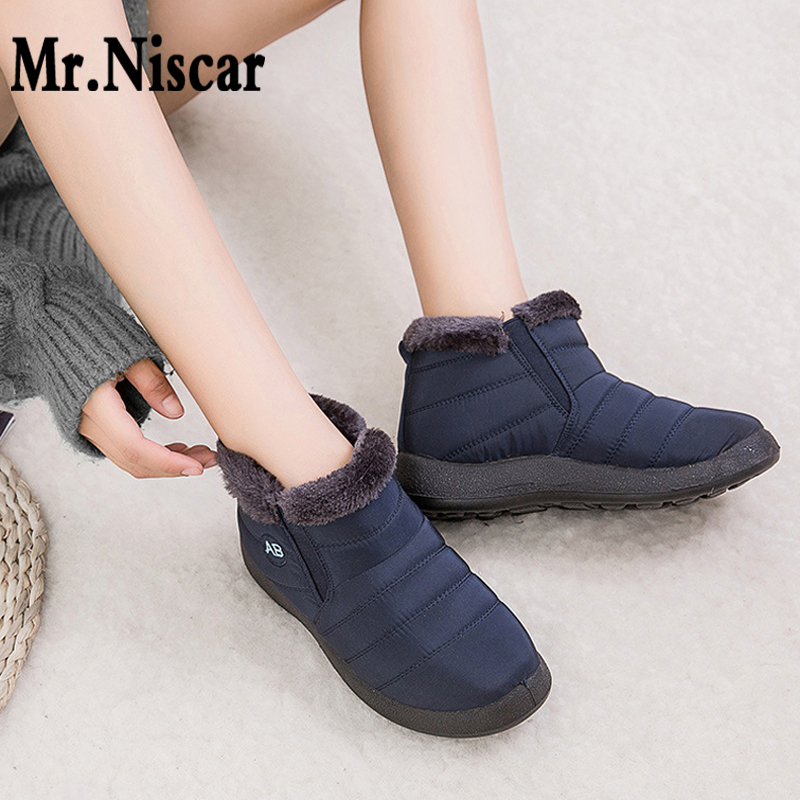 2019 Hot Sale Winter Boots Warm Snow Boots Cotton Shoes Plus Size Women Waterproof Booties Woman Casual Short Boots for Ladies image
