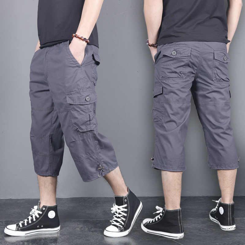Freies gürtel Sommer Kurze für Männer Plus Größe Cargo-Shorts Casual Baumwolle Strand Board Shorts mit Multi Tasche Lose Baggy joggers