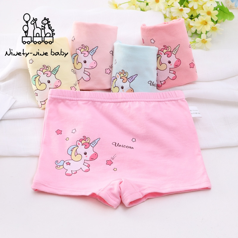 5 Pcs/lot Kids Panties Girls Boxer Briefs Female Child Underwear Baby Girl Cotton Lovely Animal Design Panties Children Clothing