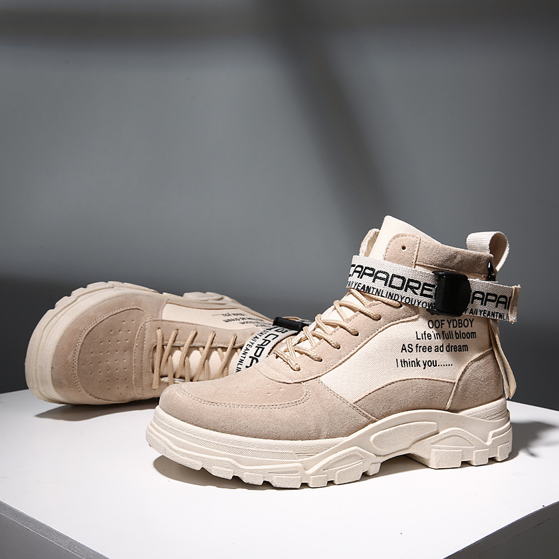 2019 Autumn Martin Boots Hight-top Workwear Men's Boot British Style Tide Ride Desert Boots Fashion Street Tube Men Shoes