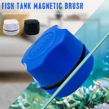 Аквариумный аквариум, Магнитная щетка для очистки, стеклянный плавающий скребок для водорослей, изогнутый стеклянный очиститель, скруббер, инструмент, магнит для очистки окон
