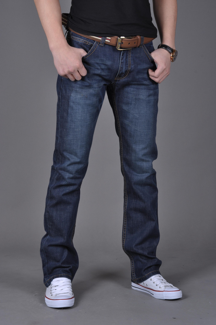 Spring And Summer Men's Jeans Men's Slim Straight Trousers Men's Pants Men's Clothing