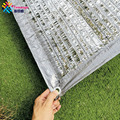 Серебряная сетка Tewango для защиты от солнца  90% УФ-блок  алюминиевая фольга  сетка  покрытие для растений  наружный отражающий светильник от со...