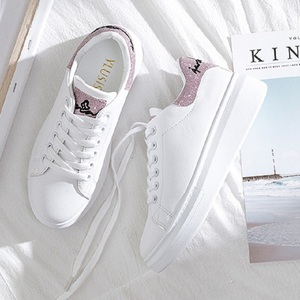 Image 4 - SWYIVY Spring Shoes Woman Platform Sneakers White 2020 New Female Casual Shoes On Chunky Heel White Shoes For Woman Sneaker