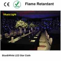LED Stage Drape Star Cloth 3x7m Curtain Backdrop Background Screen Flame Retarded with Controller for Wedding Christmas Party