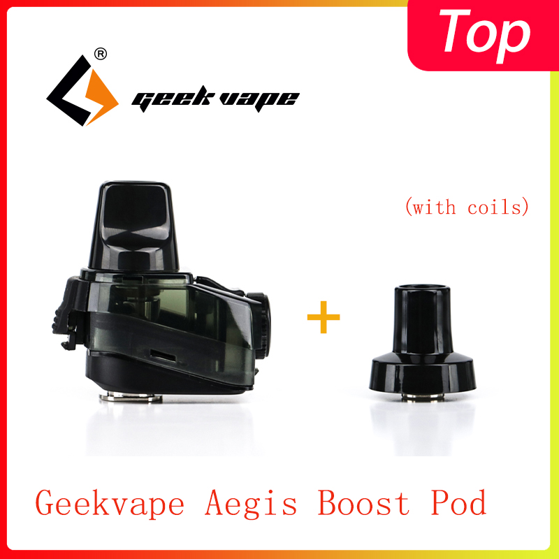 Original Geekvape Aegis Boost Pod Cartridge With 0.4ohm/0.6ohm Coil & 2ml/3.7ml Capacity  For Aegis Boost Kit