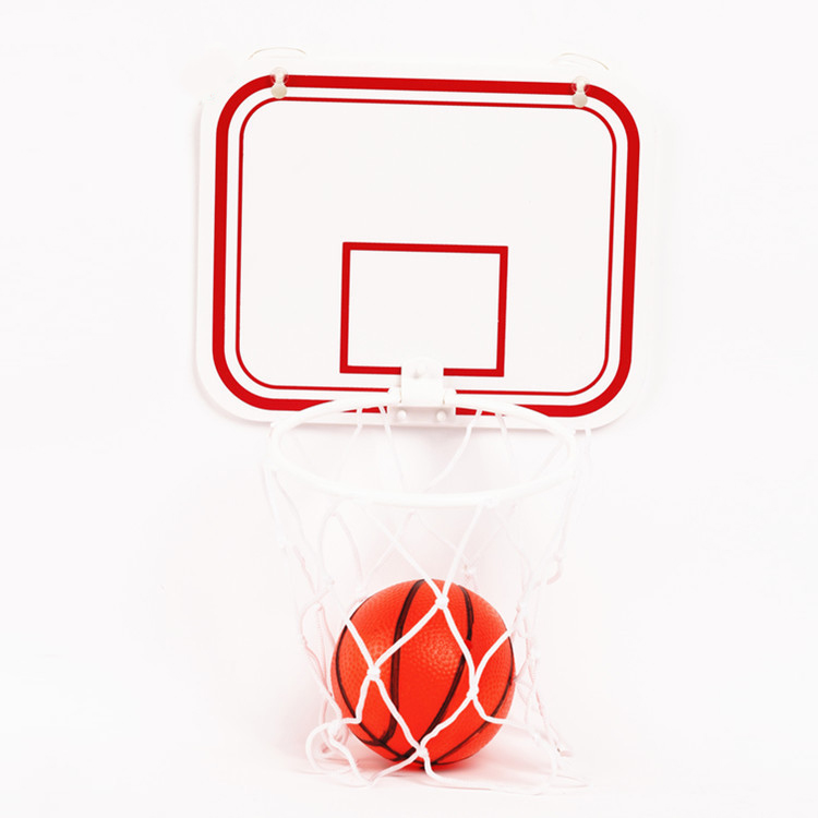 Basketball Box Wholesale Children's Indoor Hanging Free Punch Plastic Basketball Box Gift Small Basketball