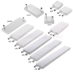 Primary Aluminum Water Cooling Cooler Block Heat Sink System 40/80/120/160/180/200/240mm Blocks Radiator For PC Laptop CPU