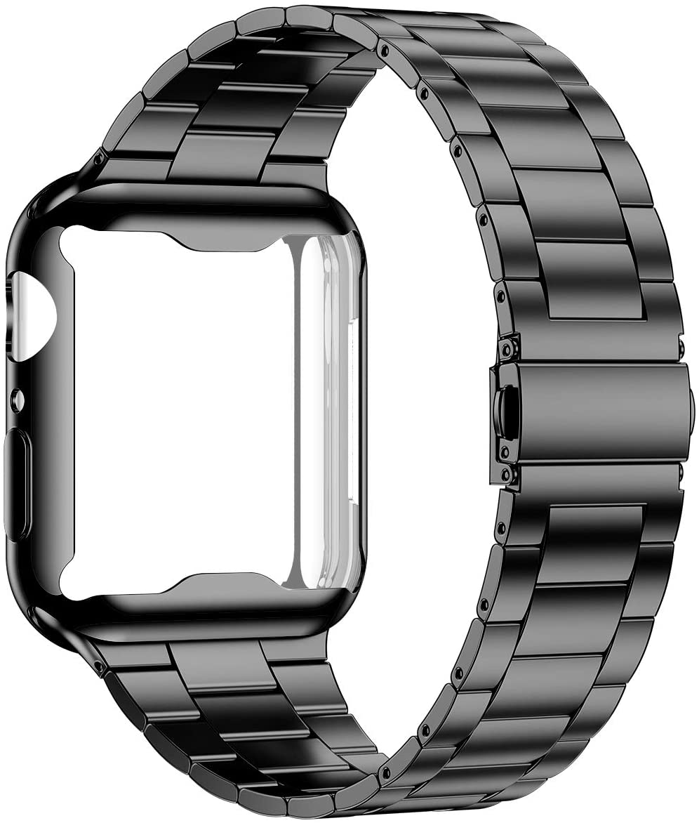 Case+strap For Apple Watch Band 44 Mm 40mm IWatch Band 42mm/38mm Stainless Steel Metal Bracelet Apple Watch 5 4 3 38/40 42/44mm