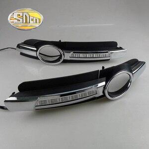 Image 2 - Cho Xe Audi A6 C6 2005 2006 2007 2008 Không Lỗi Chạy Ban Ngày LED DRL Đèn Sương Mù Lái Xe Đèn