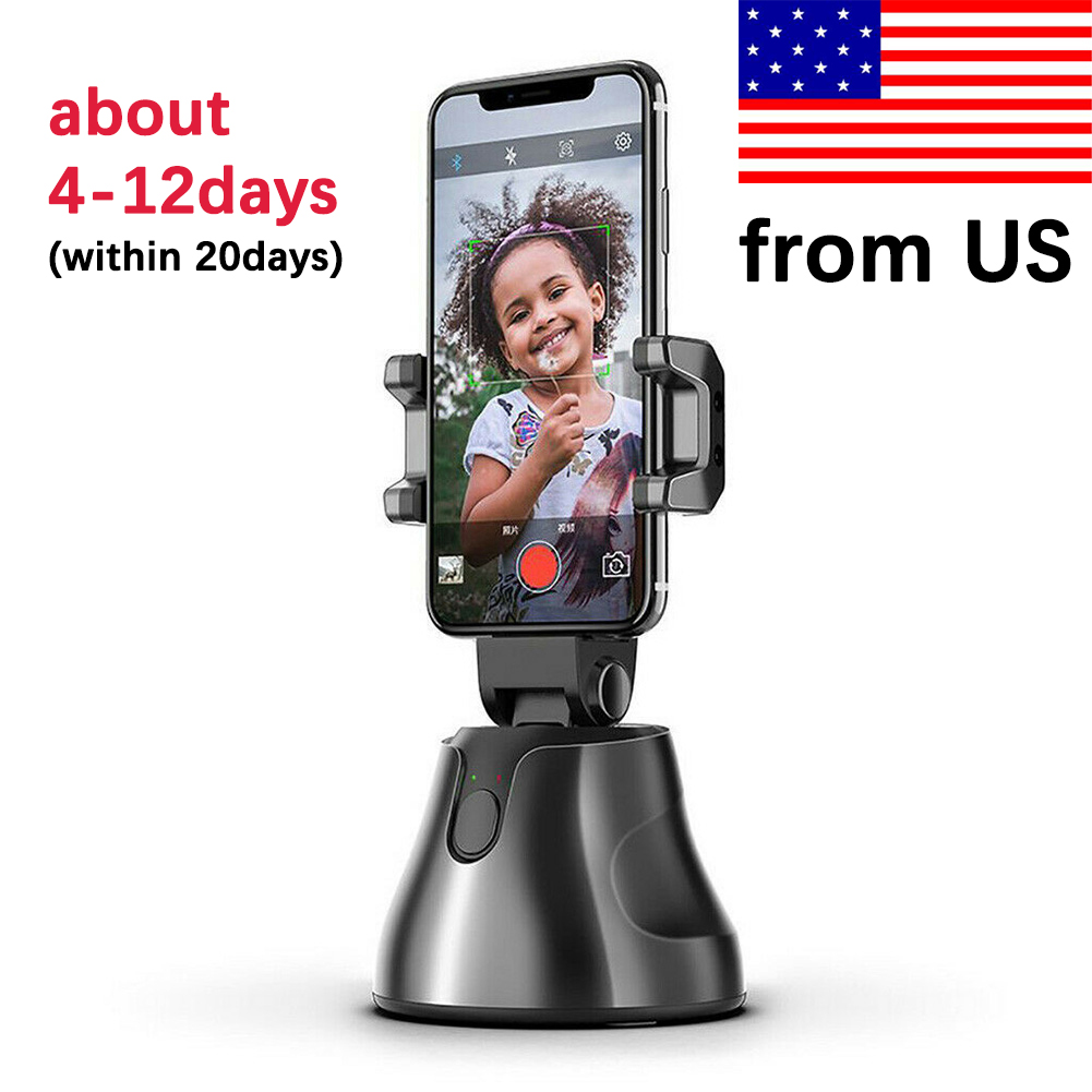 Auto Smart Phone Holder Selfie Shooting Gimbal 360 Degree Face Tracking Object Stick Photo Vlog Camera Live Video Record Stand