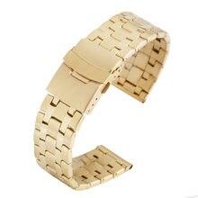 22 мм Благородный Золотой ремешок для часов стальной деликатная