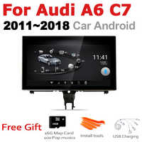 TBBCTEE For Audi A6 C7 2011~2018 AU MMI RMC 2 din Android gps car play mlutimedia player stereo Navi Navigation Android Auto
