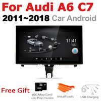 TBBCTEE para Audi A6 C7 2011 ~ 2018 es MMI RMC 2 din Android coche gps jugar mlutimedia jugador estéreo Navi navegación Android Auto