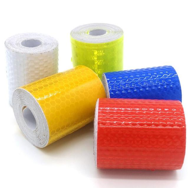 5cmx3m Reflective Material Tape Sticker Safety Warning Tape Reflective Film Car Stickers 3