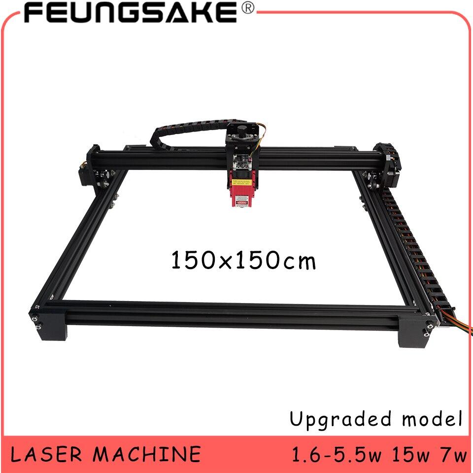Duży obszar 150x150cm cnc 15w maszyna laserowa PMW sterowanie TTL, 7w grawerka laserowa 5500mw grawer laserowy, laserowa maszyna grawerująca
