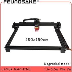 Grande area di 150x150cm cnc 15w macchina laser PMW TTL di controllo, 7w intaglio macchina laser 5500mw Laser incisore, Macchina Per Incisione Laser