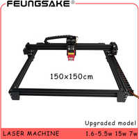 Máquina do laser do cnc 15w da área grande 150x150cm controle de ttl, 7w máquina de cinzeladura do laser 5500 mw, máquina de gravura do laser