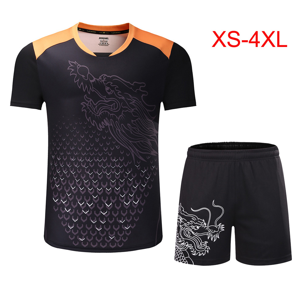 New Season CHINA Dragon Table Tennis Sets Man , Women Child Ping Pong Sport Kit Shorts Suit ,Tennis Jersey Uniforms Clothes 3890