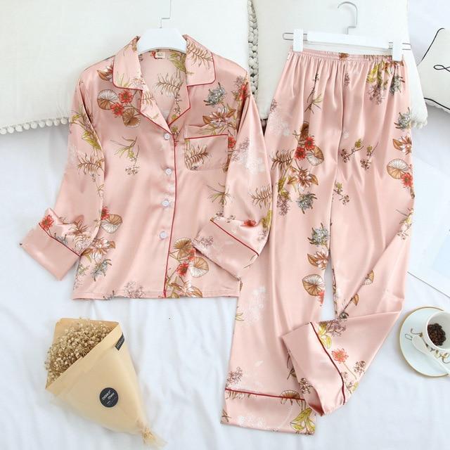 Long Sleeve Printed Pajama Set 2