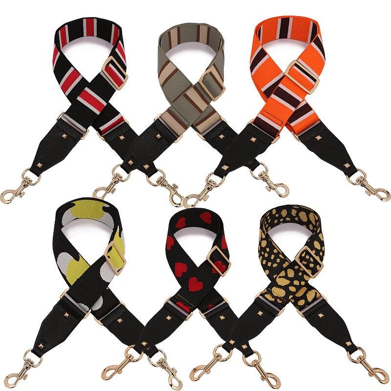 Colored Bag Strap Handbag Belt Wide Shoulder Bag Strap Replacement Strap Accessory Bag Part Adjustable Belt For Bags 130cm