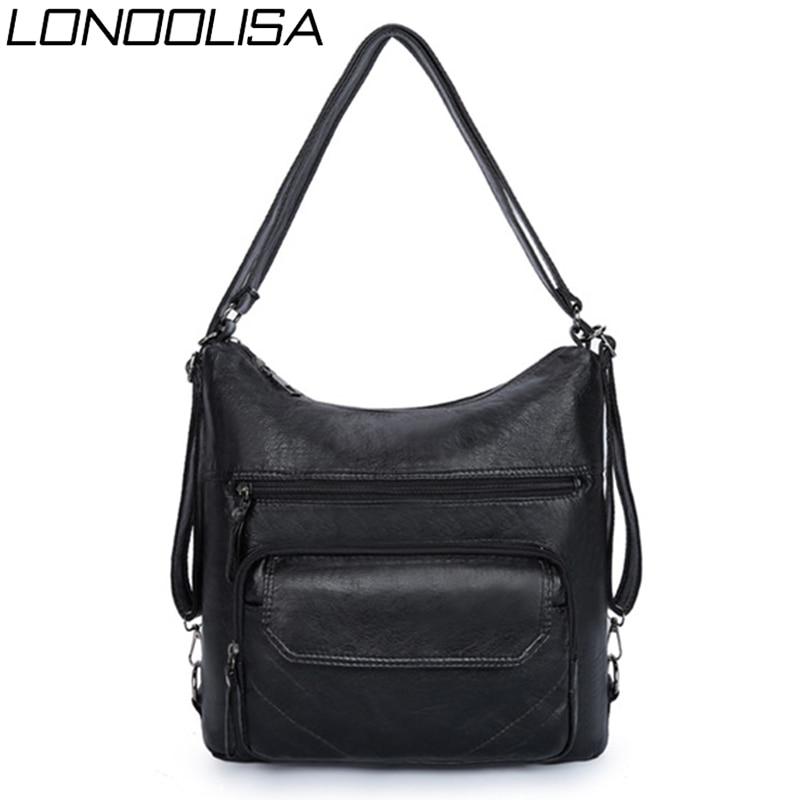 Sac A Dos Women PU Leather Backpack Zipper Travel Backpack Female Bagpack School Shoulder Bags For Women 2020 Back Pack Mochilas