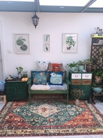 Nordic Retro Ethnic Jacquard Mandala Round Mat/Flower Printed Round Carpet For Livingroom Kids Room Large Area Rug CF