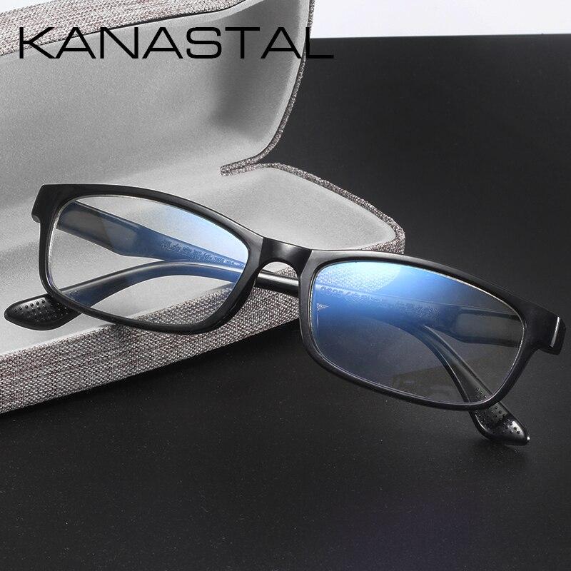 KANASTAL Women Reading Glasses Men Unti Blue Rays Reading Glasses Fibrous Glasses Reading Square Frame Men Reading Glasses UV400