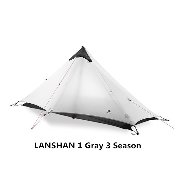 LanShan 2 3F UL GEAR 2 Person 1 Person Outdoor Ultralight Camping Tent 3 Season <font><b>4</b></font> Season Professional 15D Silnylon Rodless Tent image