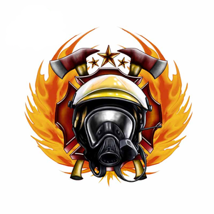Image 3 - 43cm X 41.3cm For Firefighter Fine Decal Sunscreen Car Stickers PVC Car Door Protector Sticker Motorcycle Decoration