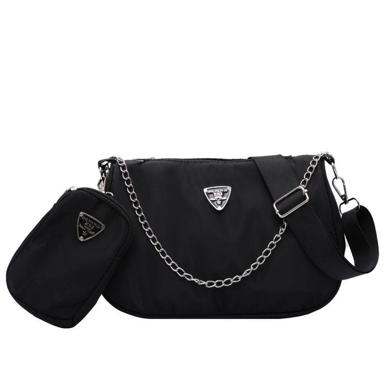 2020 New Designer Women Handbag Female Shoulder Bags Vintage Bags Ladies Hand Bags Chain 2PCS Luxury Crossbody Messenger bags