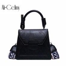 Женская брендовая Оригинальная дизайнерская сумка, женская новая Джокер ретро сумка-мессенджер с одной задней частью, модная текстура, широкополосная маленькая квадратная сумка
