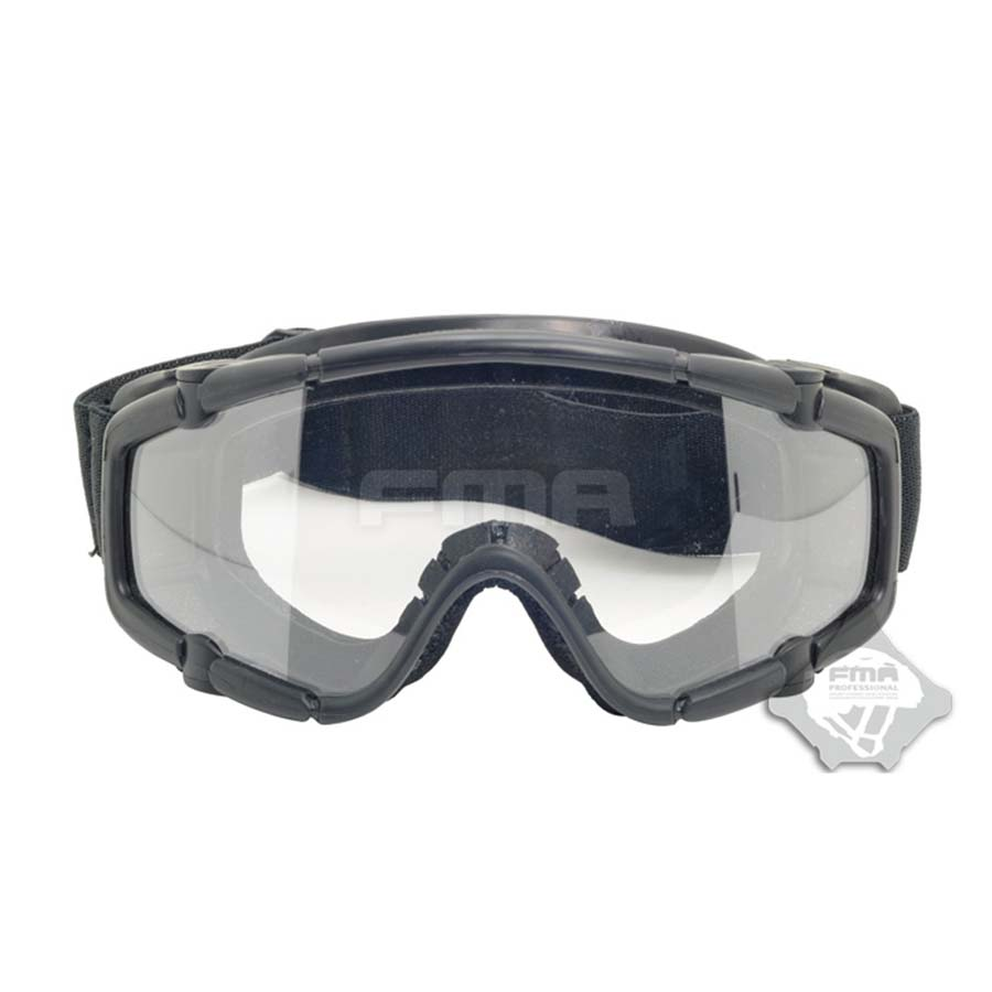 Óculos de Lente Capacete da Motocicleta Ballistic-goggle Tactical Vento Goggle Preta Fma