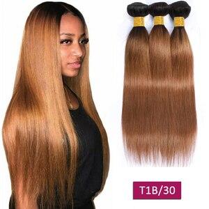 Пряпряди T1b/4/27 блонд Омбре человеческие волосы 3 пряди предложения не Реми наращивание волос перуанские бразильские пучки плетения волос пр...