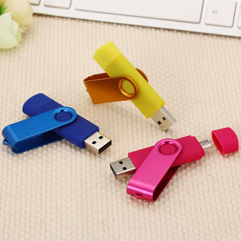 USB 2.0 métal rotatif OTG USB lecteur Flash stylo lecteur 8gb 16gb 32gb 64gb 128gb clé USB intelligente paquet de vente au détail